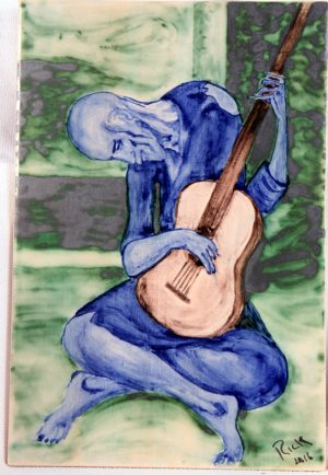 Blue Guitarist Picasso Tribute